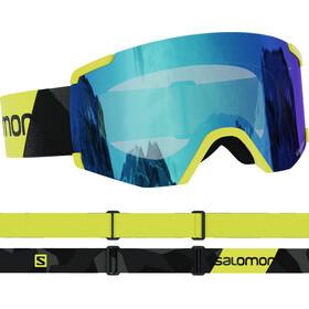 Salomon S/View Gafas, neon yellow/mid blue